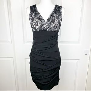 Ruby Rox Bodycon Dress Lace Top Tight Fitting